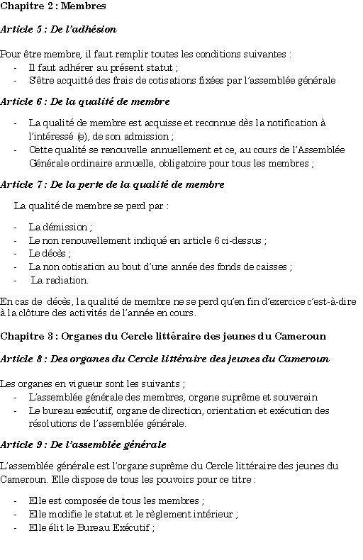 Page 2 Statuts du CLIJEC